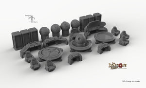 Sci-Fi Headquarters Set - 28mm 32mm Dragon's Rest HQ Wargaming Terrain Scatter D&D DnD Pathfinder Warhammer 40k