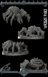 Dire Spider - Wargaming Miniatures Monster Rocket Pig Games D&D, DnD, Pathfinder, SW Legion, Warhammer