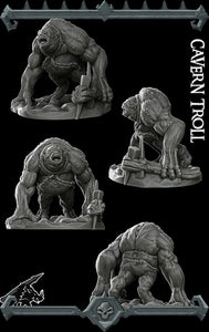 Cavern Troll - Wargaming Miniatures Monster Rocket Pig Games D&D, DnD, Pathfinder, SW Legion, Warhammer