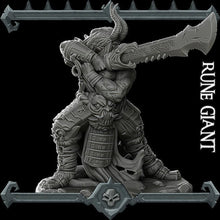 Load image into Gallery viewer, Rune Giant - Wargaming Miniatures Monster Rocket Pig Games D&D, DnD, Pathfinder, SW Legion, Warhammer