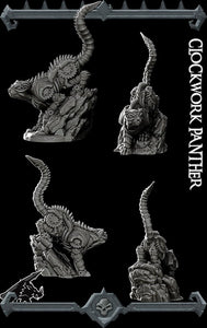 Clockwork Panther - Wargaming Miniatures Monster Rocket Pig Games D&D, DnD, Pathfinder, SW Legion, Warhammer