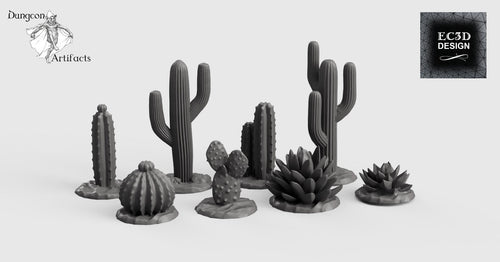 Cacti and Desert Plants - 28mm 32mm Empire of Scorching Sands Wargaming Terrain D&D, DnD, Pathfinder, SW Legion, Warhammer
