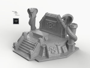 Snake Altar - 15mm 28mm 32mm Empire of Scorching Sands Wargaming Terrain D&D, DnD, Pathfinder, SW Legion, Warhammer