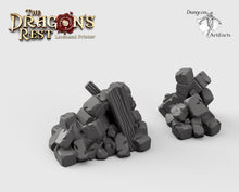 Load image into Gallery viewer, Ruin Scatter - 15mm 28mm 32mm 42mm Dragon's Rest Wargaming Terrain Scatter D&D DnD Pathfinder Warhammer 40k