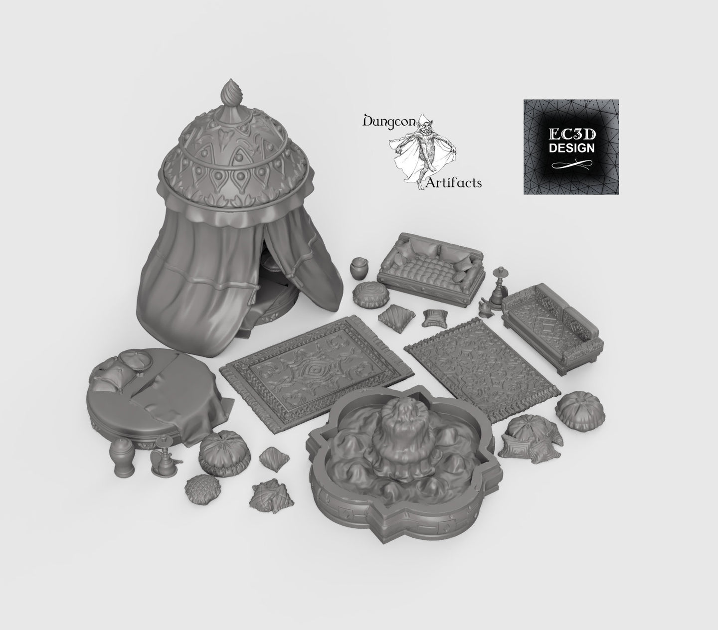 RPG Harem Set - 28mm 32mm Empire of Scorching Sands Wargaming Terrain D&D, DnD, Pathfinder, SW Legion, Warhammer