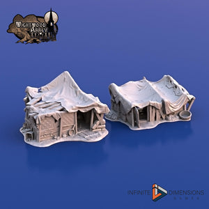 Beggar's Hovels - 28mm 32mm Wightwood Abbey Wargaming Tabletop Scatter Miniatures Terrain D&D, DnD, Pathfinder, SW Legion, Warhammer 40k