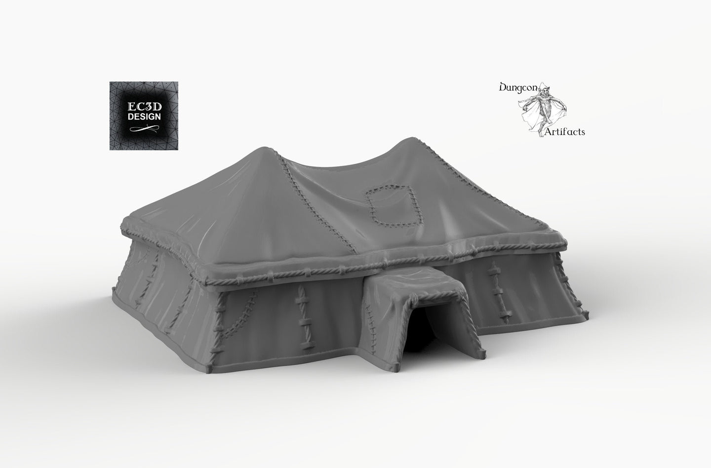 Grand Desert Tent - 15mm 28mm 32mm Empire of Scorching Sands Wargaming Terrain D&D, DnD, Pathfinder, SW Legion, Warhammer