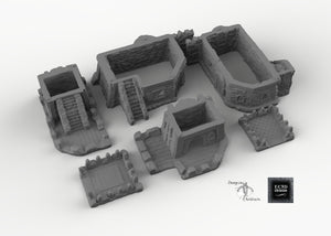 Desert Outpost - 15mm 28mm 32mm Empire of Scorching Sands Wargaming Terrain D&D, DnD, Pathfinder, SW Legion, Warhammer
