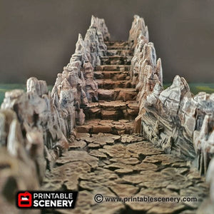 Grotto Ramps and Columns - 28mm 32mm Clorehaven and the Goblin Grotto Mushroom Wargaming Terrain Scatter D&D DnD Pathfinder Warhammer 40k