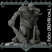 Load image into Gallery viewer, Two-Headed Ogre - Wargaming Miniatures Monster Rocket Pig Games D&D, DnD, Pathfinder, SW Legion, Warhammer