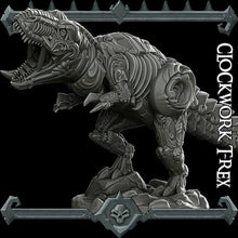 Load image into Gallery viewer, Clockwork T-Rex - Tyrannosaurus - Wargaming Miniatures Monster Rocket Pig Games D&D, DnD, Pathfinder, SW Legion, Warhammer