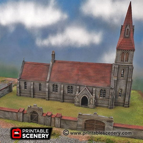 Medieval Church - 15mm 28mm 32mm 42mm Time Warp Wargaming Terrain Scatter D&D, DnD, Pathfinder, Warhammer, 40k