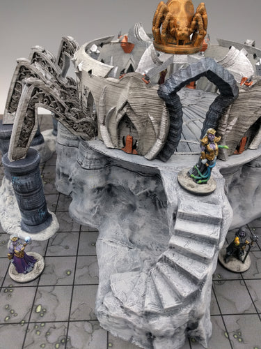 Spider Queen Temple - Skyless Realms 15mm 28mm 32mm Wargaming Terrain D&D, DnD, Pathfinder, SW Legion, Warhammer