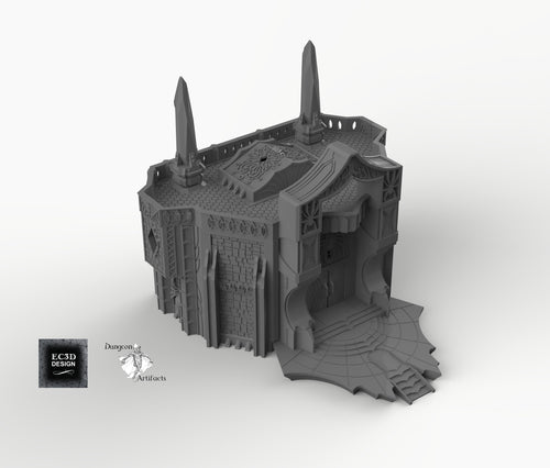 Dark Elf Palace - Skyless Realms 15mm 28mm 32mm Wargaming Terrain D&D, DnD, Pathfinder, SW Legion, Warhammer