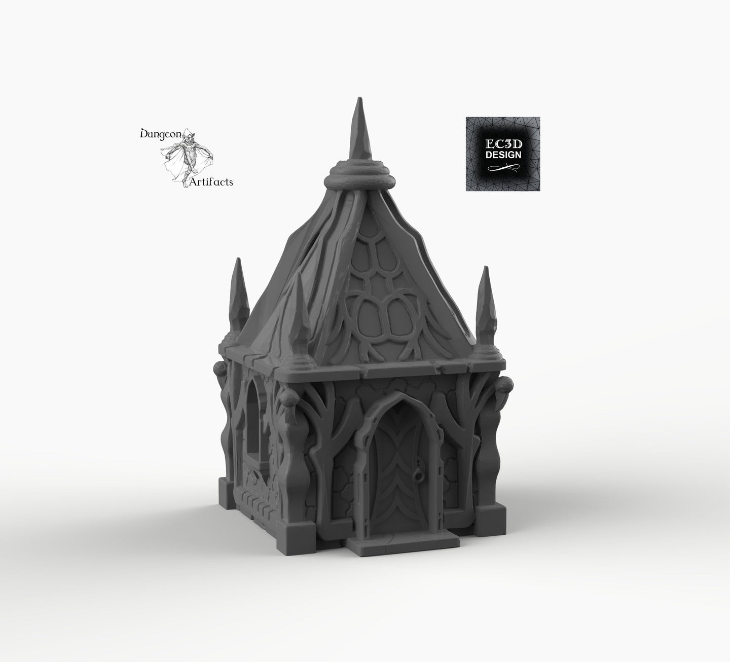 Dark Elf Small House - Dark Elf Cottage Skyless Realms 15mm 28mm 32mm Wargaming Terrain D&D, DnD, Pathfinder, SW Legion, Warhammer