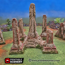 Load image into Gallery viewer, Mortis Simulacrum Ruins - 15mm 28mm Brave New Worlds New Eden Wargaming Terrain D&D, DnD, Pathfinder, Warhammer, 40k