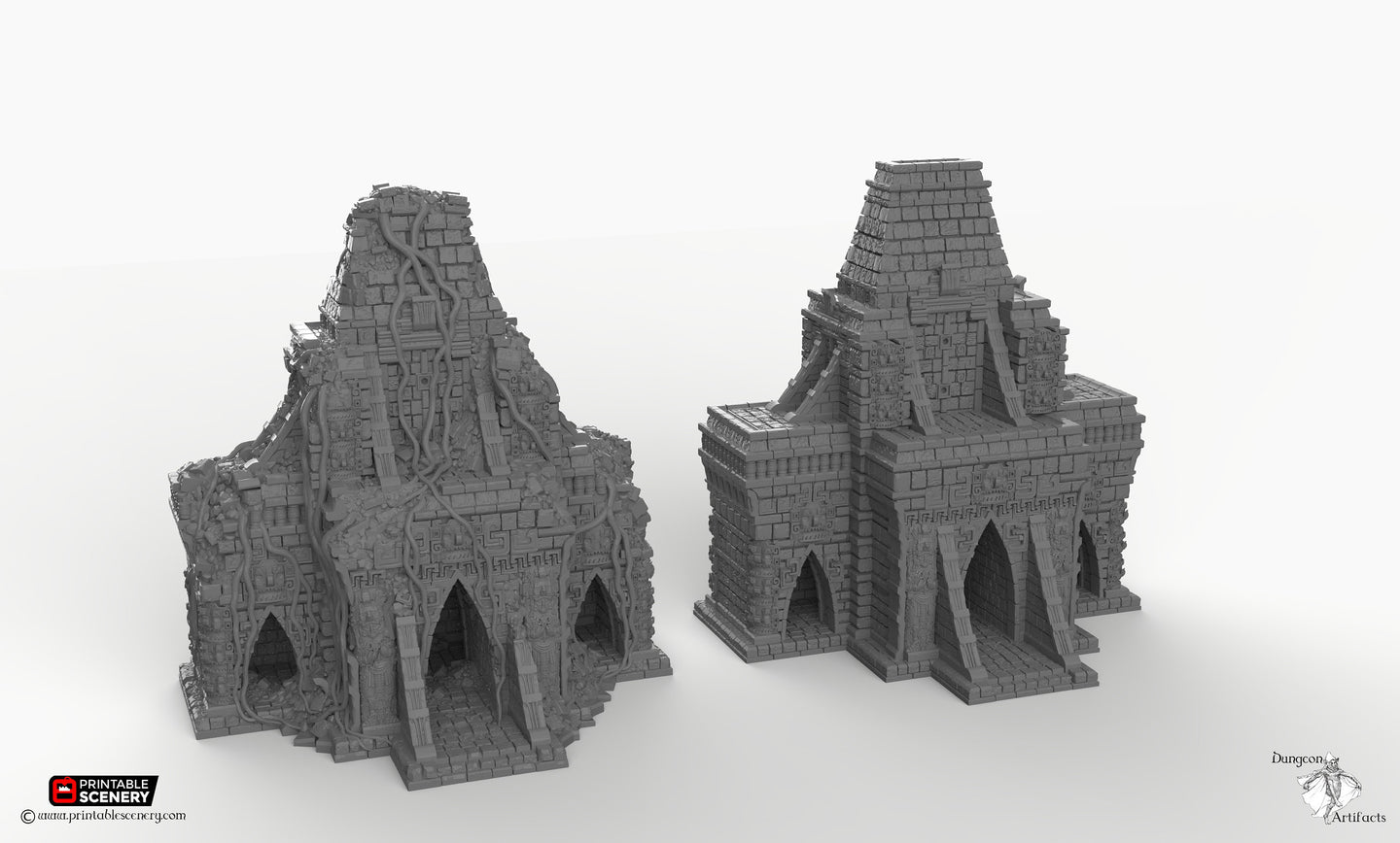 Temple of Eden Old and New Set - 15mm 28mm 32mm Brave New Worlds New Eden Wargaming Terrain D&D, DnD, Pathfinder, Warhammer, 40k