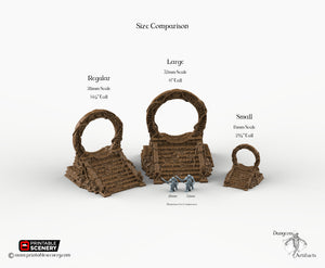 Cosmic Gate Set - 15mm 28mm 32mm Brave New Worlds New Eden Wargaming Terrain D&D, DnD, Pathfinder, Warhammer, 40k