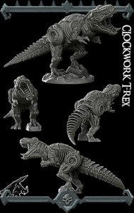 Clockwork T-Rex - Tyrannosaurus - Wargaming Miniatures Monster Rocket Pig Games D&D, DnD, Pathfinder, SW Legion, Warhammer