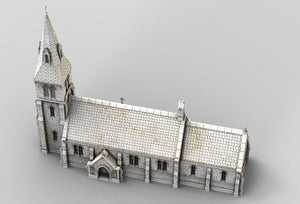 Medieval Church - 15mm 28mm 32mm 37mm Time Warp Wargaming Terrain Scatter D&D, DnD, Pathfinder, Warhammer, 40k