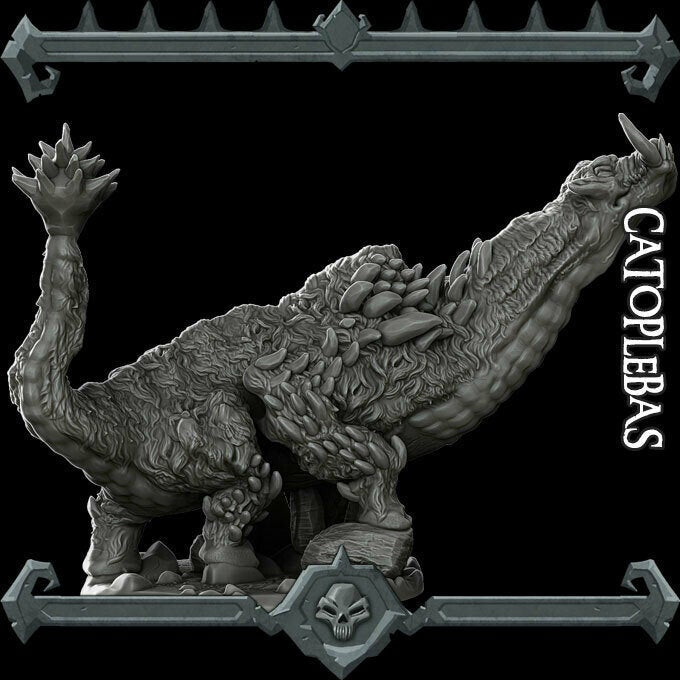 Catoblepas - Catoplebas Wargaming Miniatures Monster Rocket Pig Games D&D, DnD, Pathfinder, Warhammer