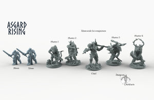 Hunters of the Mountain King - Wargaming Miniatures Monster Asgard Rising, D&D, DnD, Pathfinder, SW Legion, Warhammer