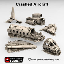 Load image into Gallery viewer, Crashed Aircraft - Airplane 15mm 28mm 20mm 32mm Brave New Worlds Wasteworld Gaslands Terrain Scatter D&D DnD Pathfinder Warhammer 40k