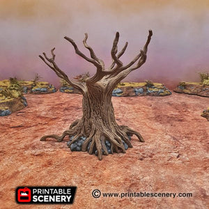 Twisted Trees - 15mm 28mm 20mm 32mm Brave New Worlds Wasteworld Gaslands Terrain Scatter D&D DnD Pathfinder Warhammer 40k