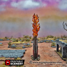 Load image into Gallery viewer, Burning Ring of Fire - 15mm 20mm 28mm 32mm Terrain Scatter Brave New Worlds Wasteworld Gaslands D&D DnD Pathfinder Warhammer 40k