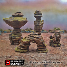 Load image into Gallery viewer, Canyon Rocks - 15mm 28mm 32mm Brave New Worlds New Eden Wargaming Terrain D&D, DnD, Pathfinder, Warhammer, 40k