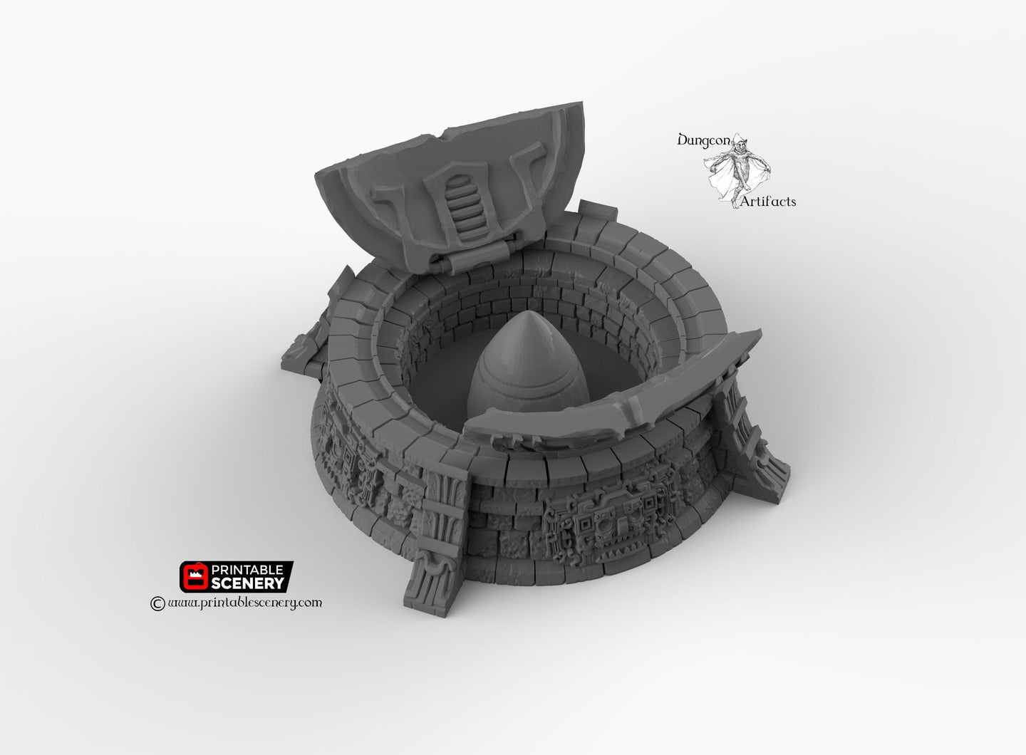 Intact Ancient Missile Silo - 15mm 28mm 32mm Brave New Worlds New Eden Terrain Scatter D&D DnD Pathfinder Warhammer 40k