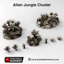 Load image into Gallery viewer, Alien Jungle Clusters - 15mm 28mm 32mm Brave New Worlds New Eden Terrain Scatter D&D DnD Pathfinder Warhammer 40k