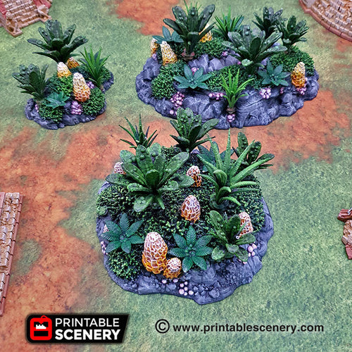 Alien Jungle Clusters - 15mm 28mm 32mm Brave New Worlds New Eden Terrain Scatter D&D DnD Pathfinder Warhammer 40k