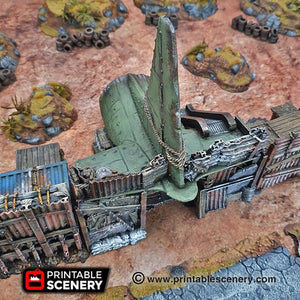 Cargo Plane Entrance - 15mm 28mm 20mm 32mm Brave New Worlds Wasteworld Gaslands Terrain Scatter D&D DnD Pathfinder Warhammer 40k