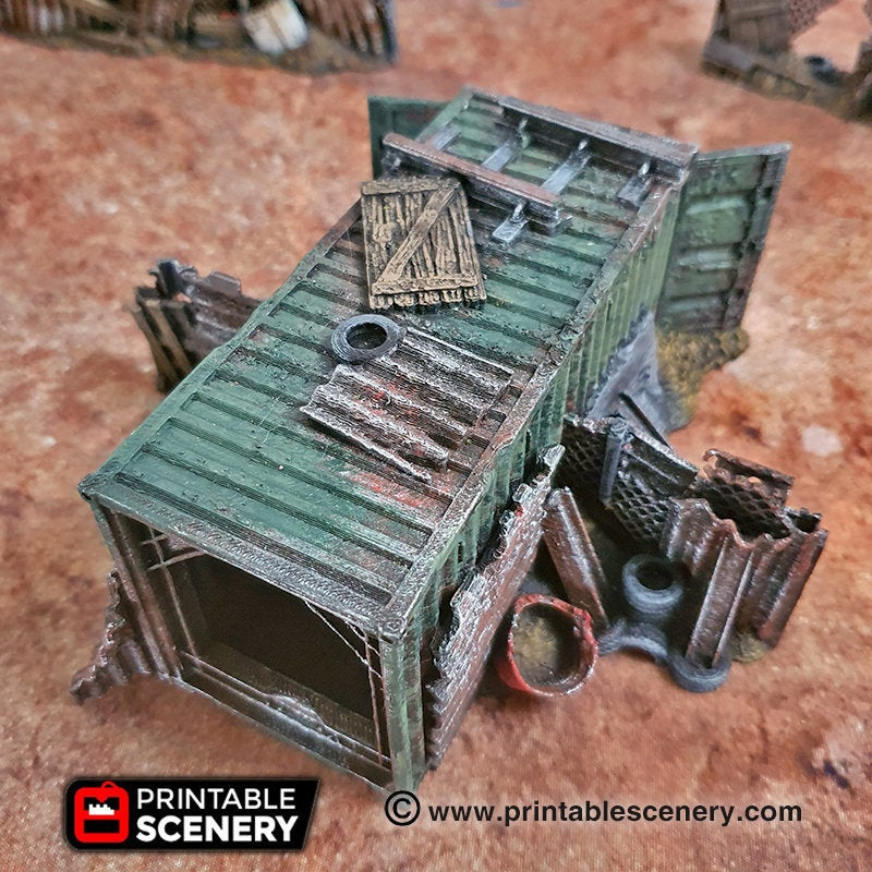 Junkfort Foot Entrance - 15mm 28mm 20mm 32mm Brave New Worlds Wasteworld Gaslands Terrain Scatter D&D DnD Pathfinder Warhammer 40k