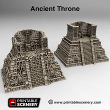 Load image into Gallery viewer, Ancient Throne - 15mm 28mm 32mm Brave New Worlds New Eden Terrain Scatter D&D DnD Pathfinder Warhammer 40k