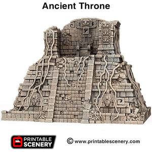 Ancient Throne - 15mm 28mm 32mm Brave New Worlds New Eden Terrain Scatter D&D DnD Pathfinder Warhammer 40k