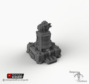 Sithic Outpost Missile Tower - 28mm 32mm Printable Scenery, Brave New Worlds, Sithic Outpost, Wargaming Tabletop, Warhammer 40k