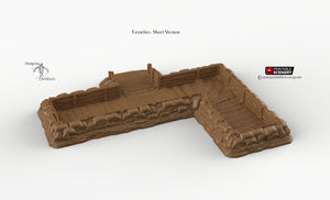 Trenches - Rampage Gothic WWI WWII Terrain Bolt Action D&D DnD SW Legion Warhammer 40k Sigmar