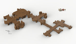 Ultimate RPG Piers and Docks Set - 28mm 32mm Dragon's Rest Wargaming Terrain Scatter D&D DnD Pathfinder Warhammer 40k