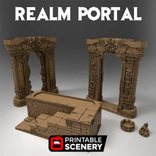 Load image into Gallery viewer, Realm Portal - 15mm 28mm 32mm Time Warp Wargaming Terrain Scatter D&D, DnD, Pathfinder, Warhammer, 40k