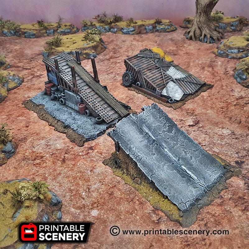 Junk Jumps - 15mm,  20mm, 28mm, 32mm, Terrain Scatter, Brave New Worlds, Wasteworld, Gaslands, Dread Race, D&D, Pathfinder, Warhammer, 40k