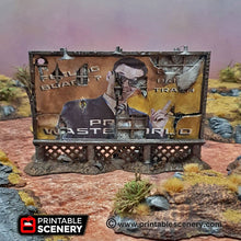 Load image into Gallery viewer, Dilapidated Billboard - 15mm 20mm 28mm 32mm Terrain Scatter Brave New Worlds Wasteworld Gaslands D&D DnD Pathfinder Warhammer 40k