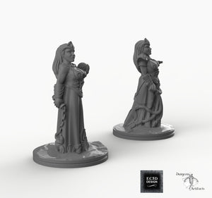 Dark Elf Cleric - EC3D Skyless Realms Wargaming Miniatures D&D DnD Pathfinder Drow PC Warhammer