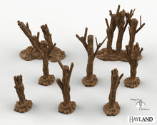 Load image into Gallery viewer, Wasteland Trees - 28mm 32mm Wargaming Terrain D&D DnD Pathfinder SW Legion Warhammer