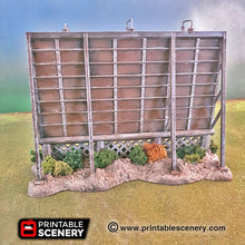 Load image into Gallery viewer, Regular Billboard - 15mm 20mm 28mm 32mm Terrain Scatter Brave New Worlds Wasteworld Gaslands D&D DnD Pathfinder Warhammer 40k