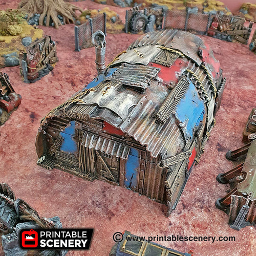 Isolation Bunker - 15mm 28mm 20mm 32mm Brave New Worlds Wasteworld Gaslands Terrain Scatter D&D DnD Pathfinder Warhammer 40k