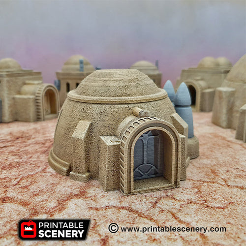Sci-Fi House and Grain Silo - 15mm 28mm 32mm Brave New Worlds Sanctuary-17 Terrain Scatter D&D DnD Pathfinder Warhammer 40k