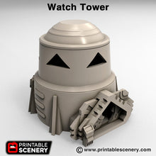 Load image into Gallery viewer, Sci-Fi Watchtower - 15mm 28mm 32mm Brave New Worlds Sanctuary-17 Terrain Scatter D&D DnD Pathfinder Warhammer 40k