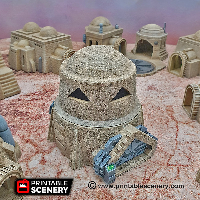 Sci-Fi Watchtower - 15mm 28mm 32mm Brave New Worlds Sanctuary-17 Terrain Scatter D&D DnD Pathfinder Warhammer 40k